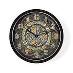 Bejeweled Celtic Shield Wall Clock