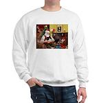 Santa's Pomeranian (bw) Sweatshirt