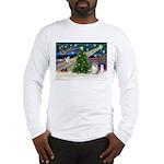 Christmas Magic & Pomeranian Long Sleeve T-Shirt
