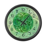 Celtic Triskele Large Wall Clock