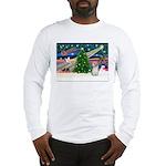 Xmas Magic/PBGV (#3) Long Sleeve T-Shirt