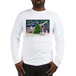 Xmas Magic/PBGV (#1) Long Sleeve T-Shirt