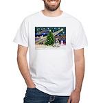 Xmas Magic/PBGV (#1) White T-Shirt
