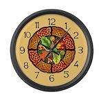 Celtic Autumn Leaves Large Wall Clock