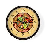 Celtic Autumn Leaves Wall Clock