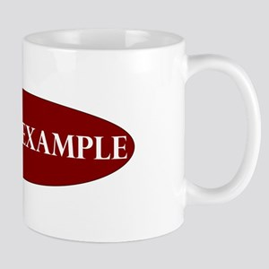 Lead by Example Oval Mug