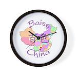 Baise China Map Wall Clock