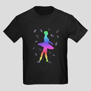 Rainbow Ballerina Dancer Flowers Dancing T-Shirt