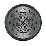 Celtic Dragons Large Wall Clock