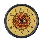 Celtic Knotwork Sun Large Wall Clock