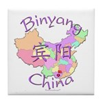 Binyang China Map Tile Coaster