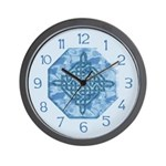 Celtic Diamond Aqua Wall Clock