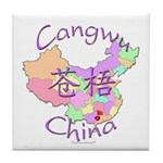 Cangwu China Map Tile Coaster