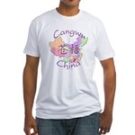 Cangwu China Map Fitted T-Shirt