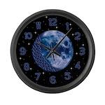 Celtic Knotwork Blue Moon Large Wall Clock
