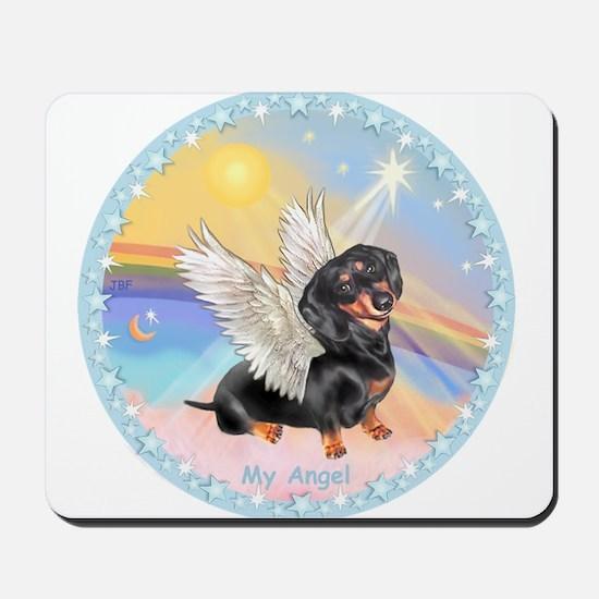 Clouds/Dachshund Angel Mousepad