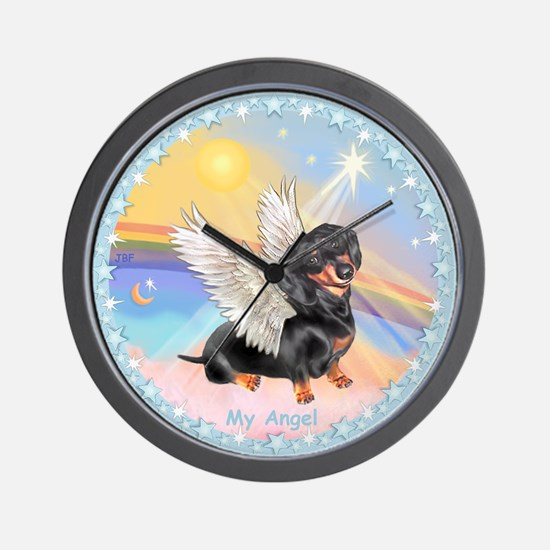 Clouds/Dachshund Angel Wall Clock