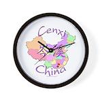 Cenxi China Map Wall Clock