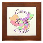 Cenxi China Map Framed Tile