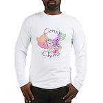Cenxi China Map Long Sleeve T-Shirt