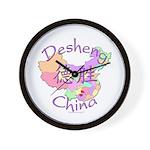 Desheng China Map Wall Clock