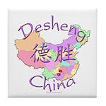 Desheng China Map Tile Coaster