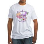 Desheng China Map Fitted T-Shirt