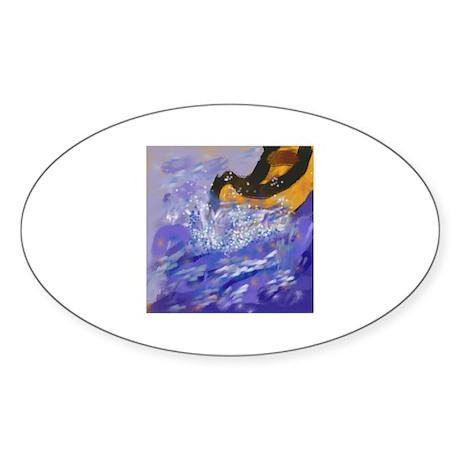 canoeing Oval Sticker