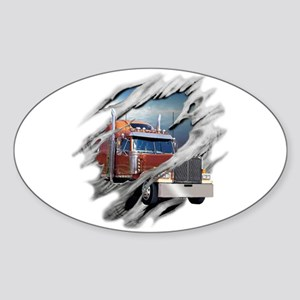 Torn Trucker Oval Sticker