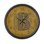 Celtic Letter B Large Wall Clock