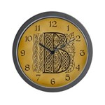 Celtic Letter B Wall Clock