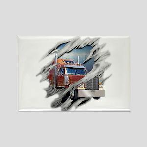 Torn Trucker Rectangle Magnet