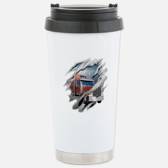 Torn Trucker Stainless Steel Travel Mug
