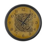 Celtic Letter C Large Wall Clock