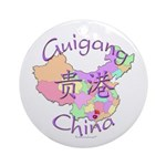Guigang China Map Ornament (Round)