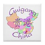 Guigang China Map Tile Coaster