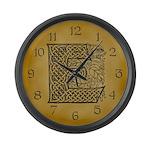 Celtic Letter E Large Wall Clock