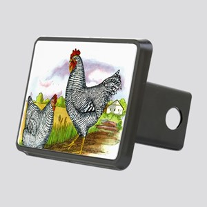 Vintage Chickens Rectangular Hitch Cover