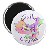 Guilin China Map Magnet