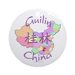 Guilin China Map Ornament (Round)