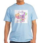 Guilin China Map Light T-Shirt