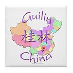 Guilin China Map Tile Coaster