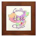 Guilin China Map Framed Tile