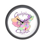 Guiping China Map Wall Clock