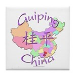 Guiping China Map Tile Coaster