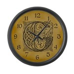 Celtic Letter G Large Wall Clock