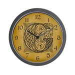 Celtic Letter G Wall Clock