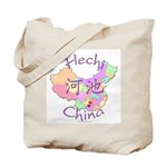 Hechi China Map Tote Bag