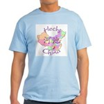 Hechi China Map Light T-Shirt