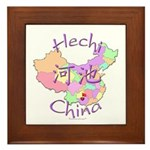 Hechi China Map Framed Tile